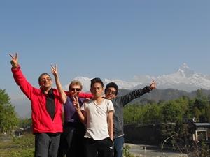 Avec Bishal et Ramesh avant le départ