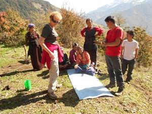 depart de trek pour les Annapurnas