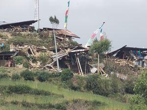 Thulo Syabru, village de Sonam après les séismes au Népal