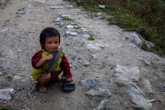 Enfant du village de Gatlang